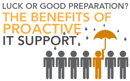 Luck or Good Preparation? The Benefits of Proactive IT Support